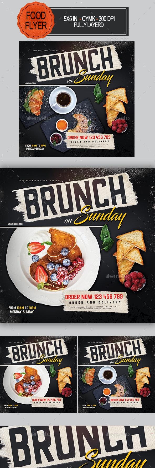 Brunch Flyer - Restaurant Flyers