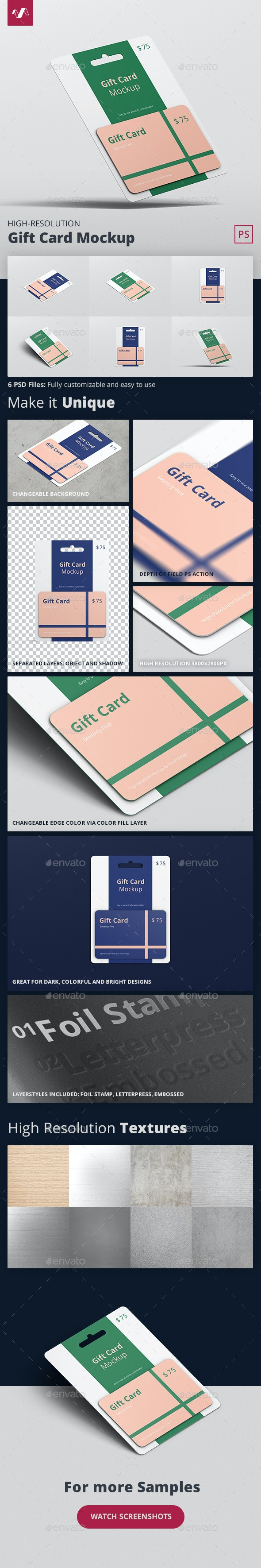 Gift Card Mockup - Business Cards Print