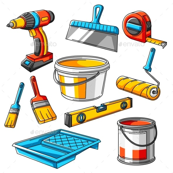 Repair Working Tools Set - Industries Business
