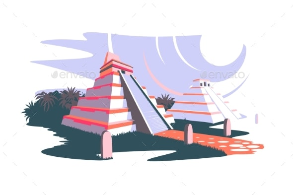 South America and Ancient Pyramids - Buildings Objects