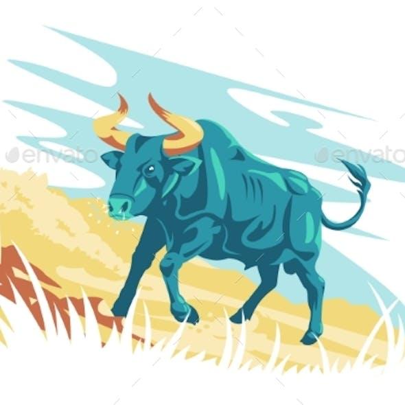Wild Animal Character Aurochs