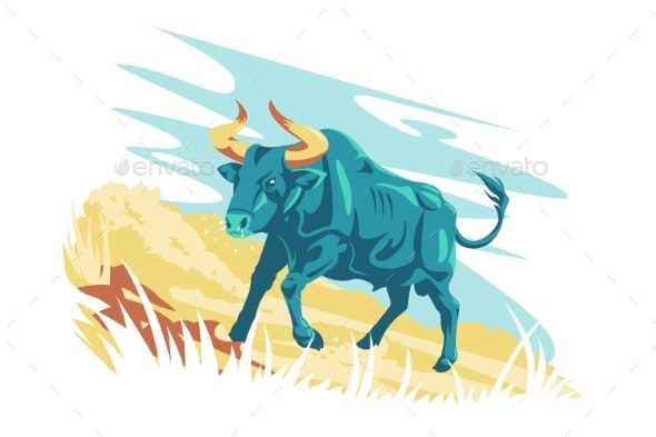 Wild Animal Character Aurochs - Animals Characters
