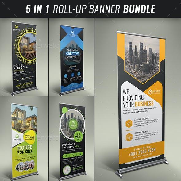 5in1 Business Roll up Banner Bundle V03