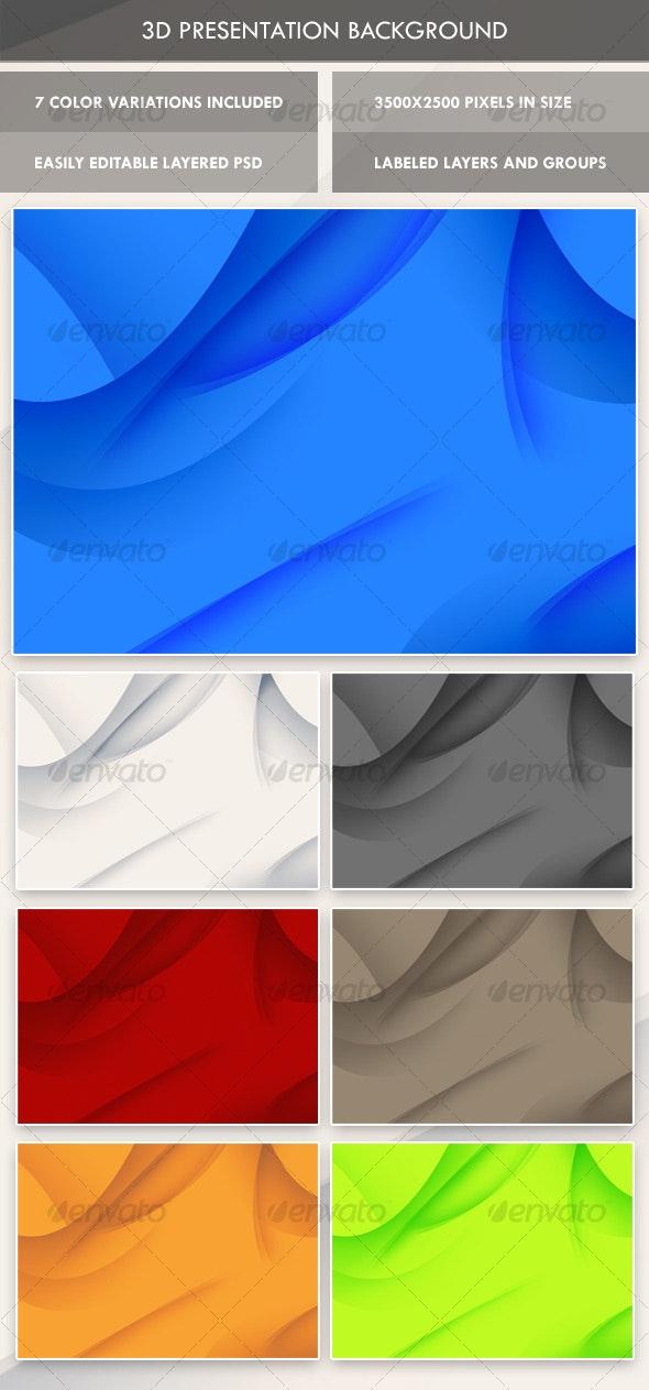 3D Presentation Background - 3D Backgrounds