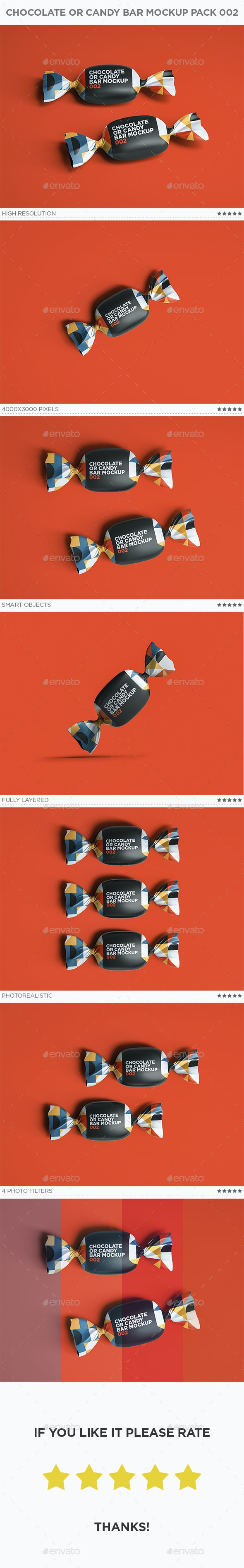 Chocolate or Candy Bar Mockup 002 - Food and Drink Packaging