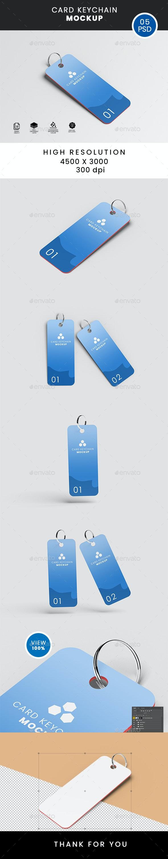 CARD KEYCHAIN MOCKUP - Product Mock-Ups Graphics