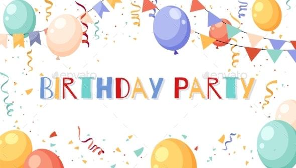 Birthday Party Frame - Seasons/Holidays Conceptual