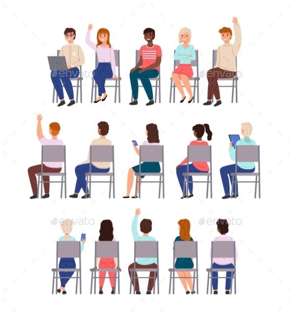 Sitting People - Miscellaneous Vectors