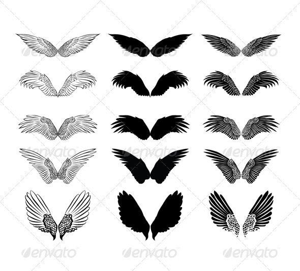 Wings design 2 - Decorative Symbols Decorative
