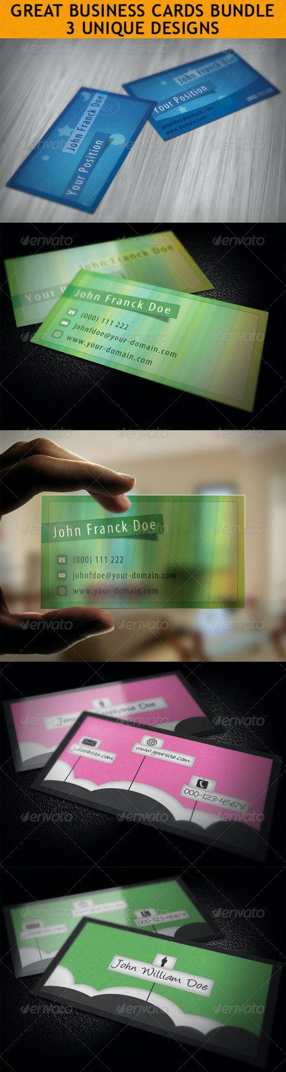 Business Cards Bundle Vol. 2 - Creative Business Cards