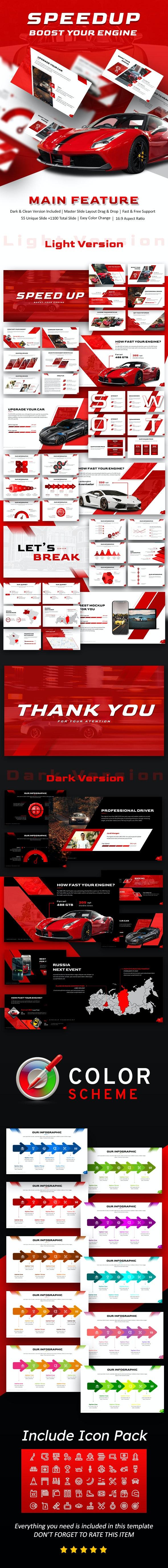 SpeedUp Automotive Presentation Template - PowerPoint Templates Presentation Templates