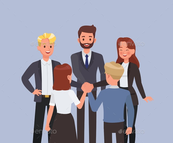 Business People Working in Office Character Vector Design. - People Characters