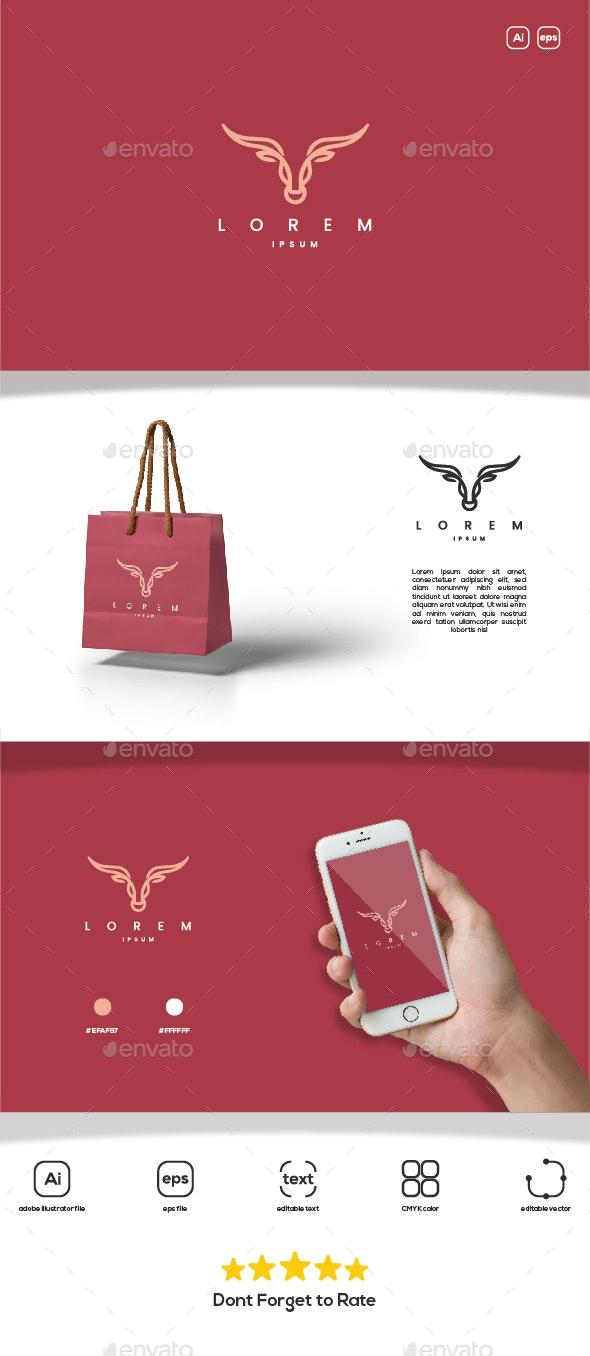 Bull Line Elegant Logo - Animals Logo Templates
