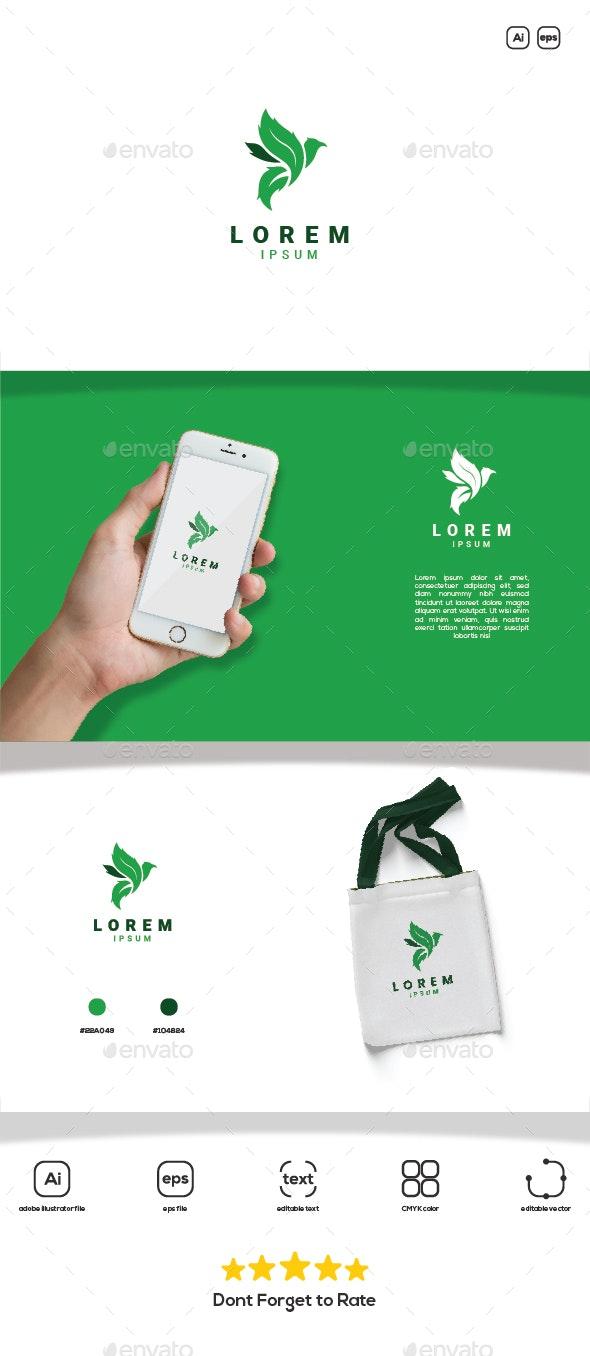 Bird Leaf Medical Logo - Animals Logo Templates