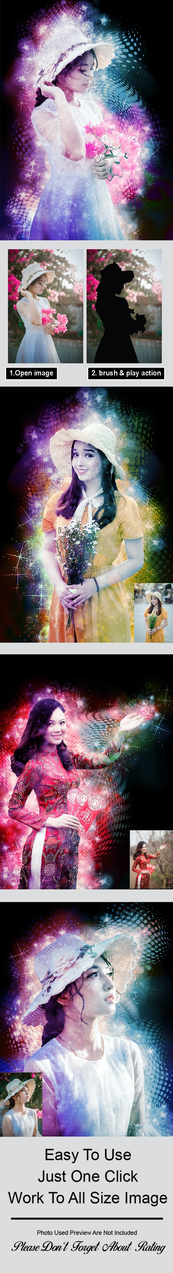 Magic Light Photoshop Action Vol 4 - Photo Effects Actions