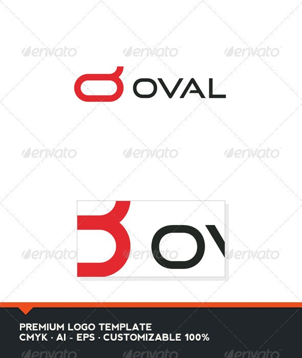 Oval - Symbol and Letter O Logo Template - Letters Logo Templates