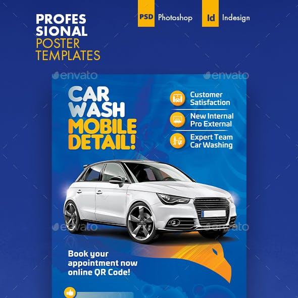Car Wash Poster Templates