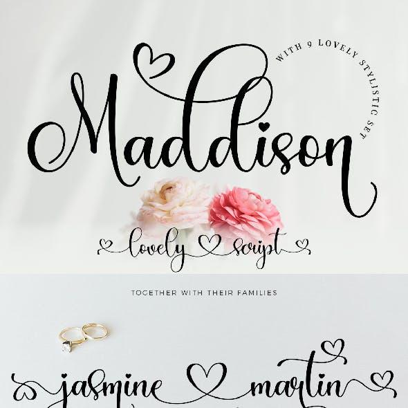 Maddison Lovely Script
