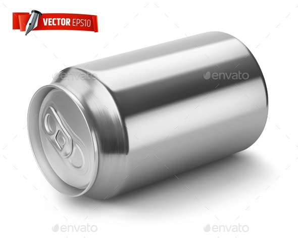 Vector Realistic Soda Can - Food Objects
