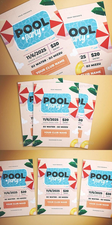 Summer Pool Party Flyer - Flyers Print Templates