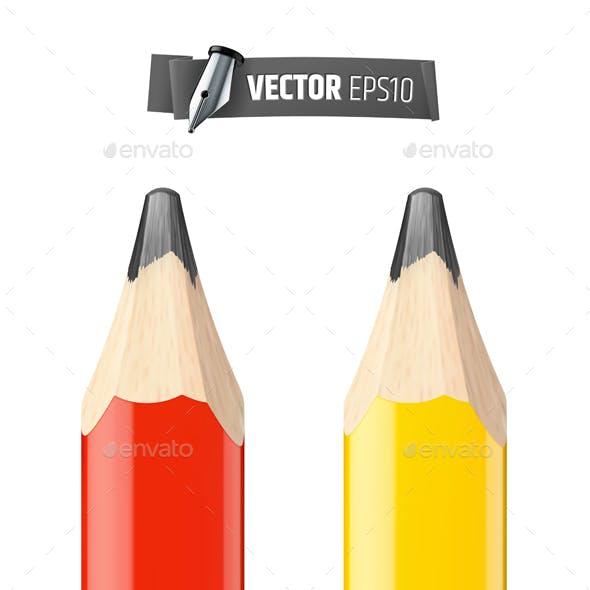 Vector Realistic Carpenter Pencils