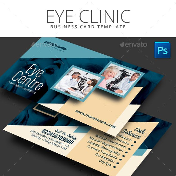 Eye Clinic Business Card
