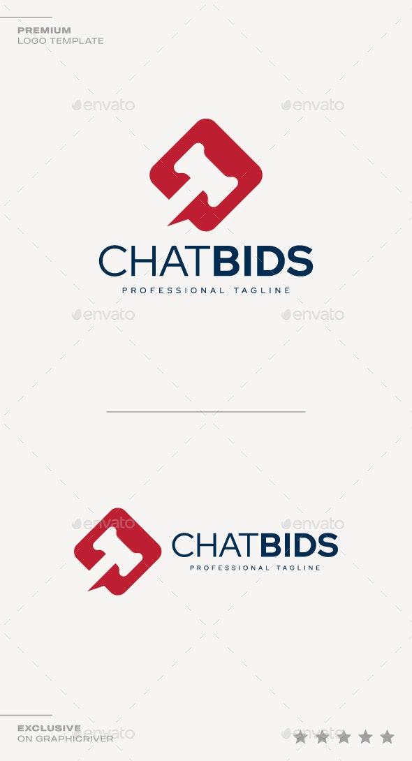 Chat Bids Logo - Symbols Logo Templates