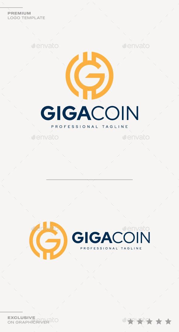 Giga Coin Logo - Symbols Logo Templates