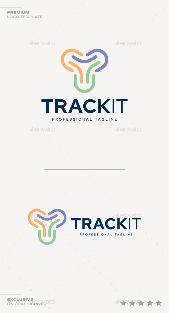 Letter T - Track It Logo - Letters Logo Templates