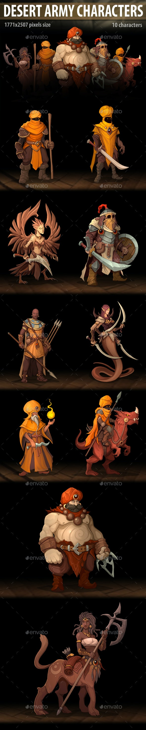 Desert Army Characters