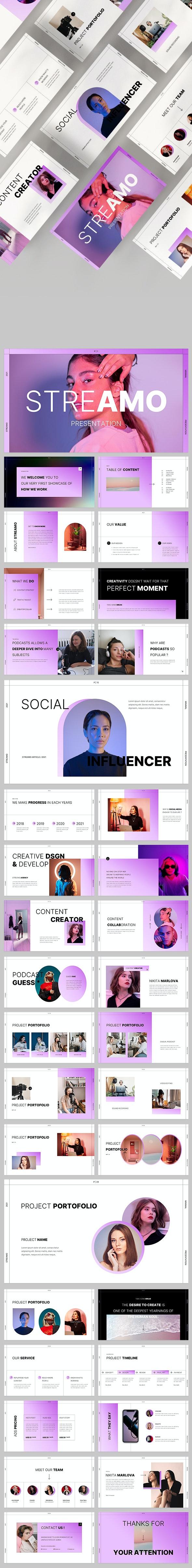Streamo Powerpoint - Creative PowerPoint Templates