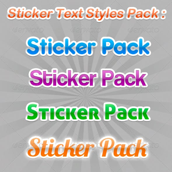 Sticker Text Styles Pack