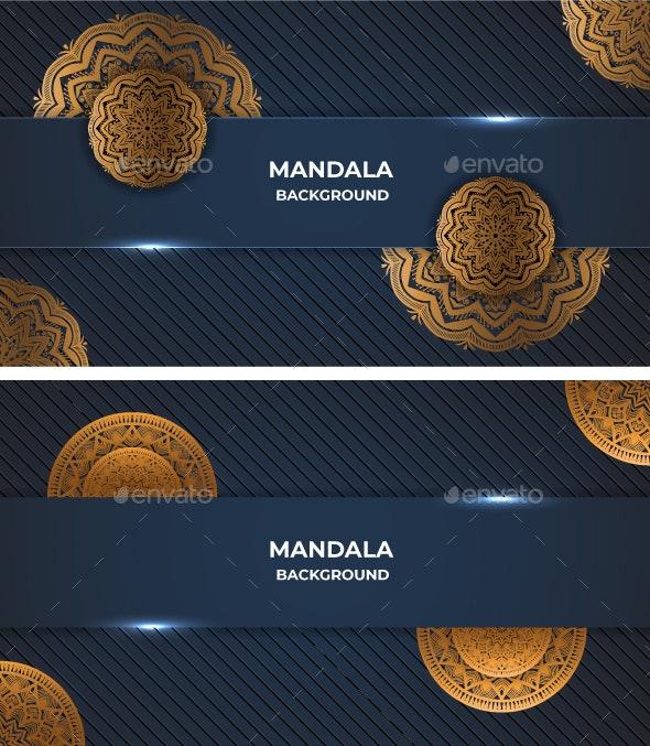 Mandala luxury background design bundle - Backgrounds Decorative