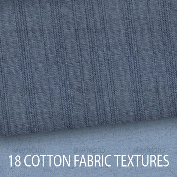Plain Linen and Striped Cotton Fabric Textures
