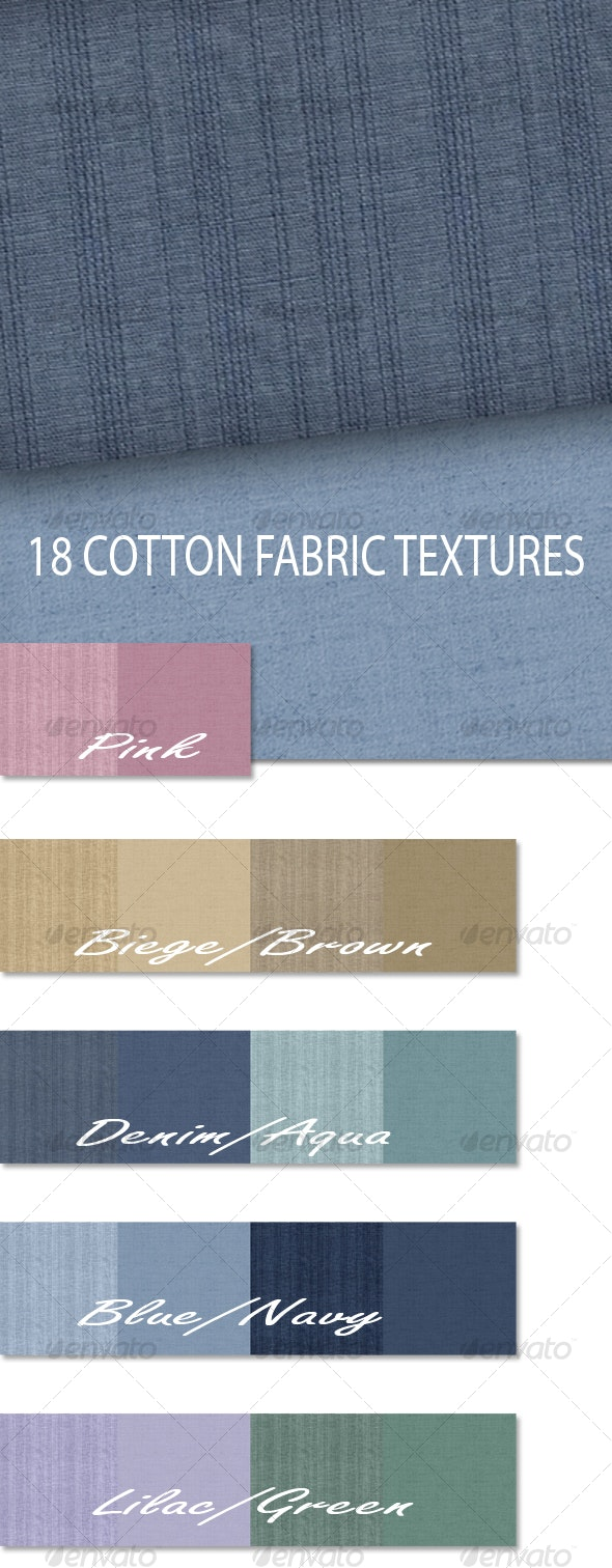 Plain Linen and Striped Cotton Fabric Textures - Fabric Textures