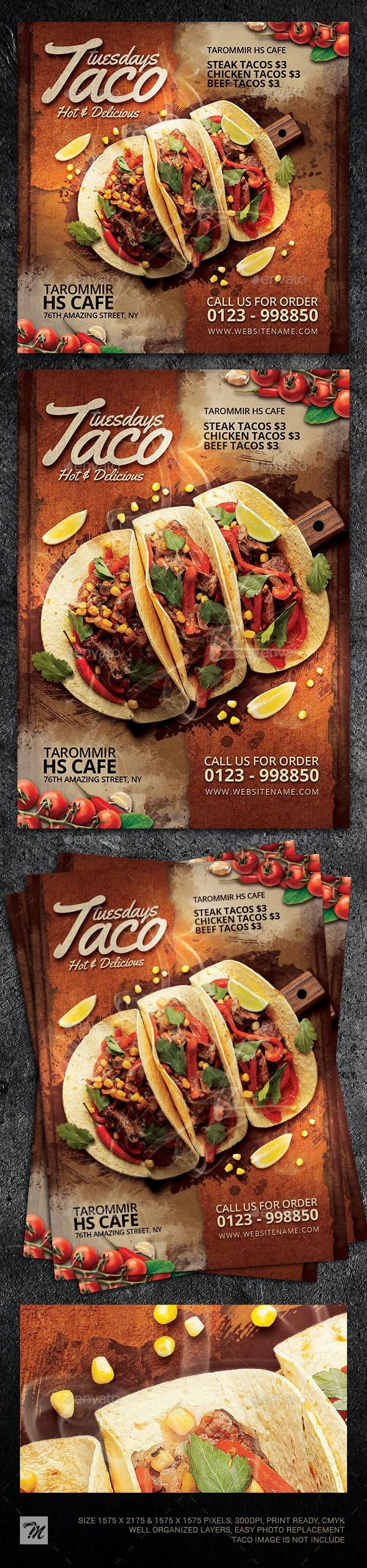 Taco Tuesdays Flyer - Restaurant Flyers