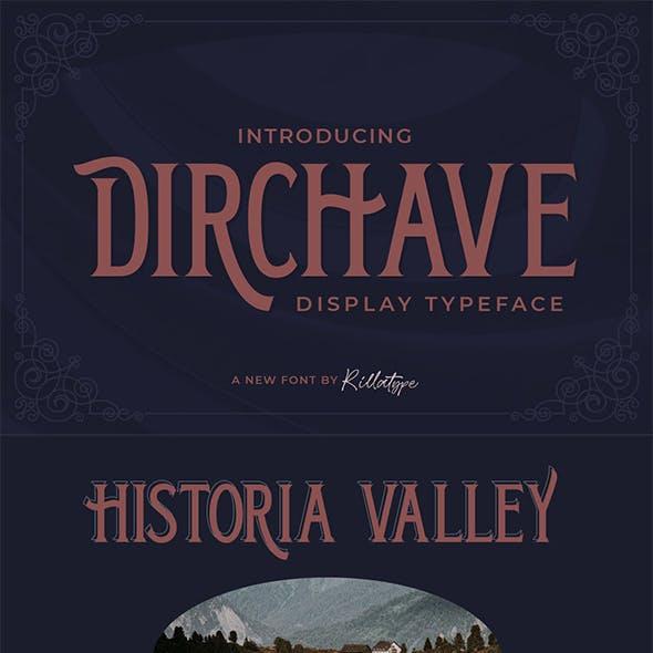 Dirchave - Display Typeface