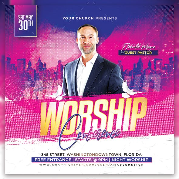 Worship Conference Church Flyer/Poster
