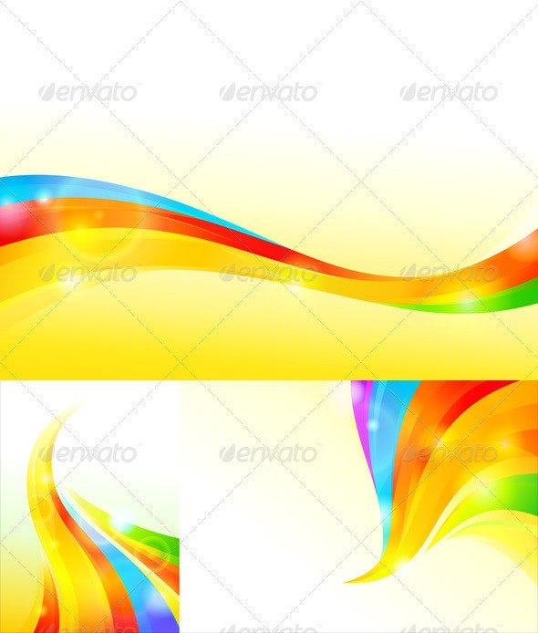 Colorful Wavy Background - Backgrounds Business