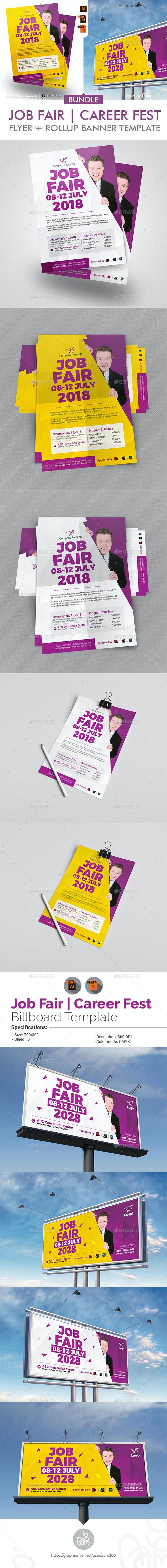 Job Fair Flyer + Billboard Bundle - Events Flyers