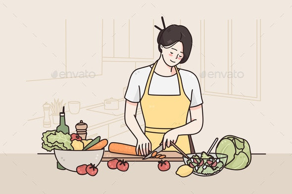 Healthy Diet and Lifestyle Concept - Food Objects