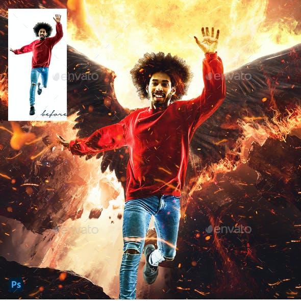 Lucifer Photo Template
