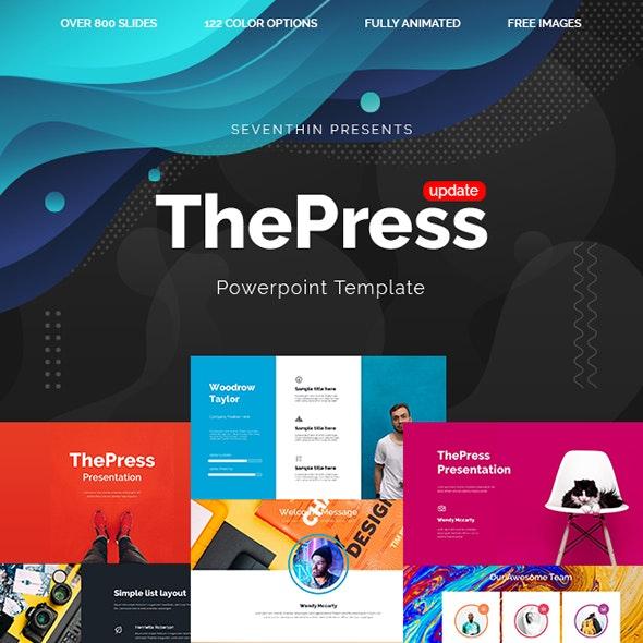 ThePress - Animated Powerpoint Template - PowerPoint Templates Presentation Templates