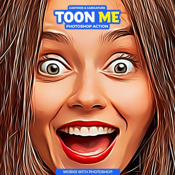 Toon-Me Photoshop Action - Cartoon Caricature
