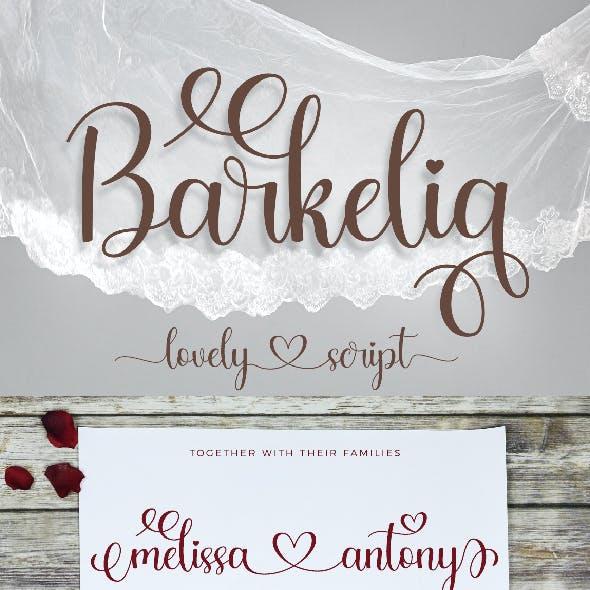 Barkelia Lovely Script