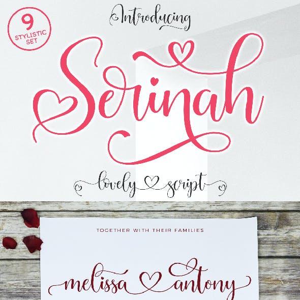 Serinah Lovely Script