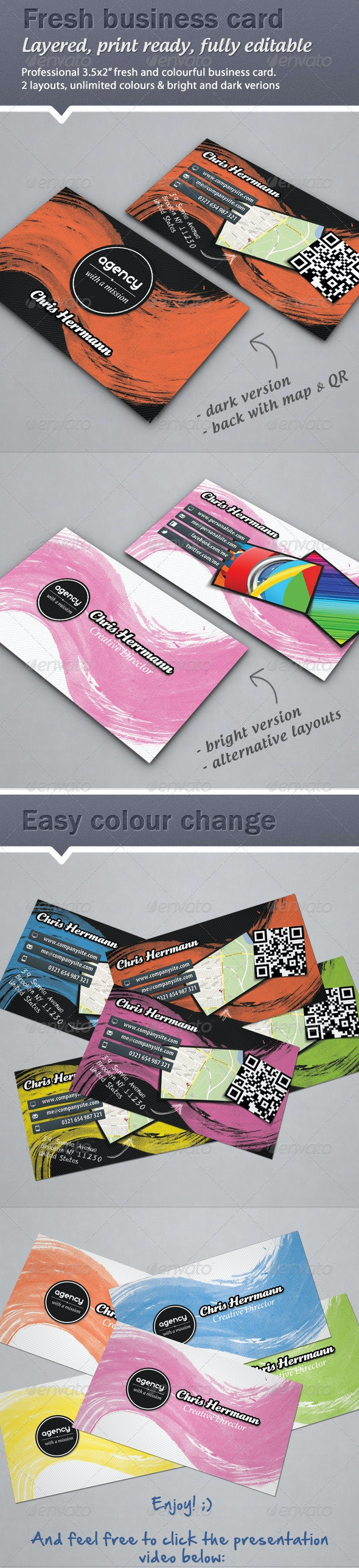 Colorful, Fresh Business card - Creative Business Cards