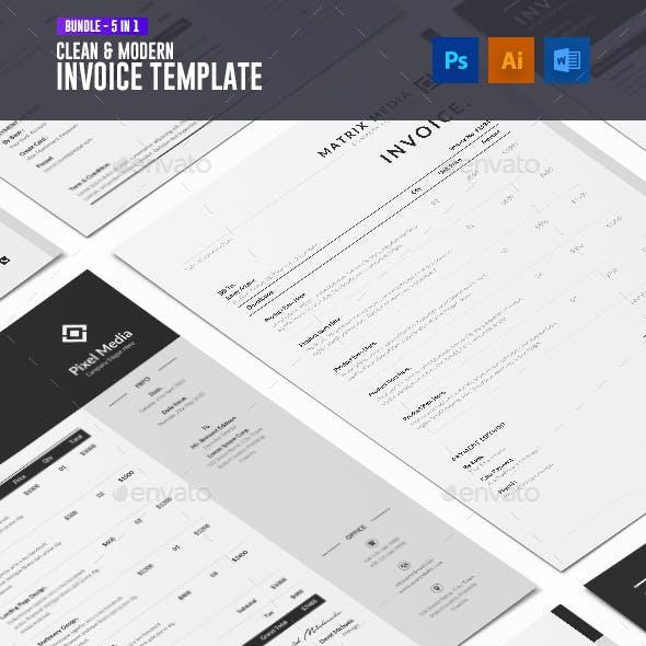 Clean & Modern Invoice Bundle