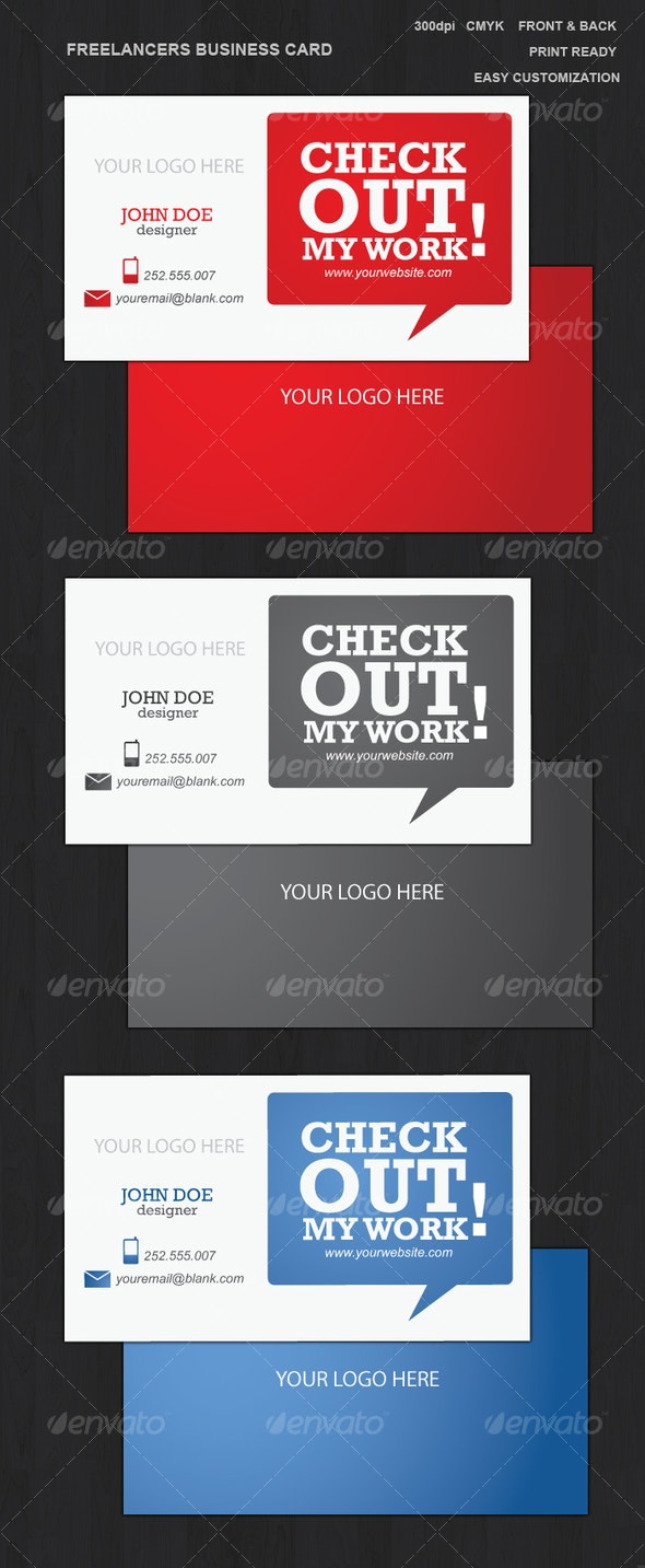 Freelancers Business Card - Creative Business Cards