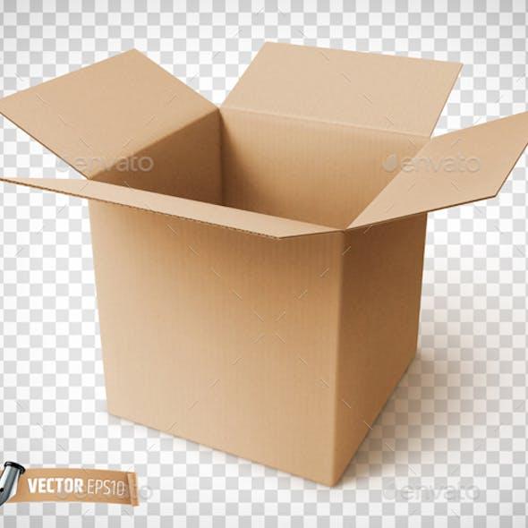 Vector Realistic Cardboard Box